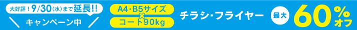 チラシ・フライヤー印刷キャンペーン